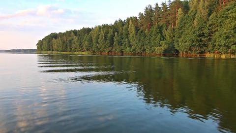 Boat trip on lake Footage