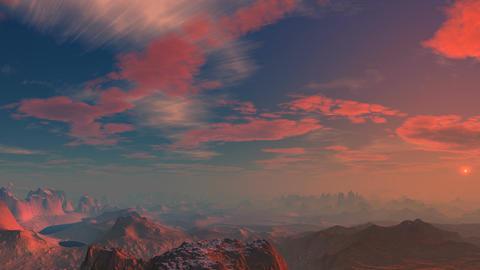 Pink sunset Animation