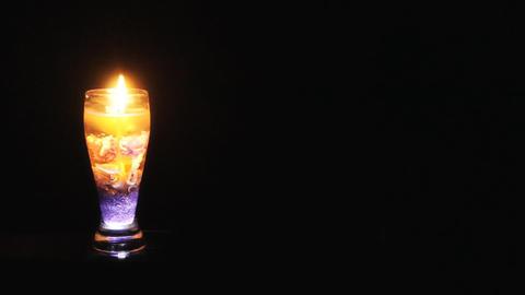 Burning candle extinguished Footage