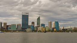 Perth City Time Lapse on a Cloudy Day Footage