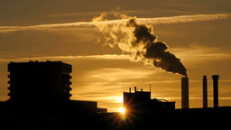 pollution smog dirty fumes. atmosphere climate Footage