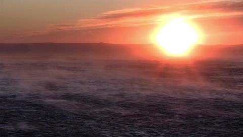 Sunset strom at sea Stock Video Footage