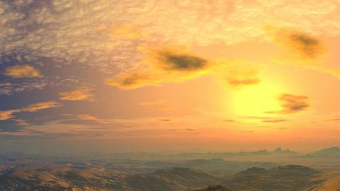 Yellow sunset Animation