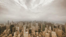 Time Lapse Of City. New York Skyline. Weather stock footage