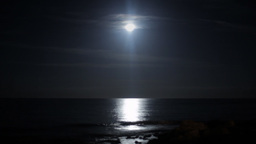 Moon sea night timelapse Footage