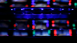 Slot machine hall metal neon reflections Footage