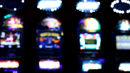 Slot machines videopoker front view Footage