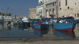 Small Italian Seaport Haven stock footage