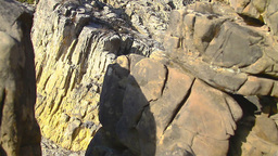 Rocky Scenery, Dolly Shot Over Canyon Walls stock footage