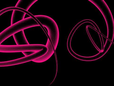 mezzo halftone render of 3 dimensional tag neon Animation