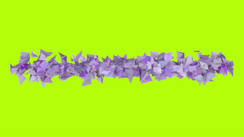 3d abstract purple spiked shape on green Animation