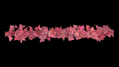 3d abstract red pink spiked shape on black Animation