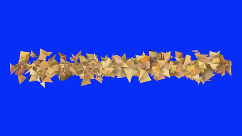 3d abstract orange spiked shape on blue Animation