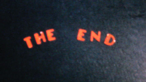 Cool Ending Title Card 1962 Vintage 8mm film Live Action