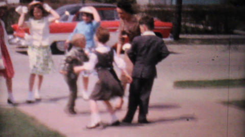 Kids Doing The Twist In The Driveway 1962 Vintage Footage