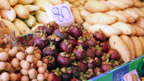 Exotic Asian Fruit Stock Video Footage