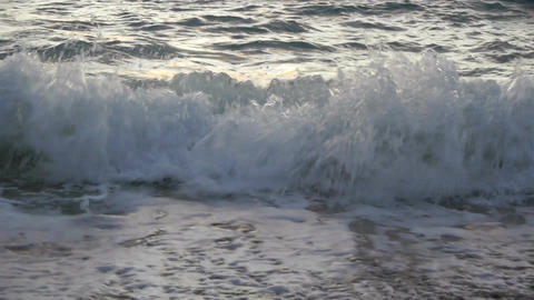 Waves On The Beach stock footage
