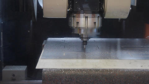 Drilling Machine, cnc machine Footage