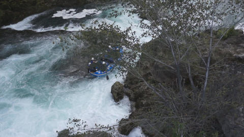 Rafting boat on whitewater Footage