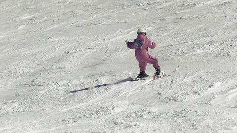 Little kid learning to ski Footage
