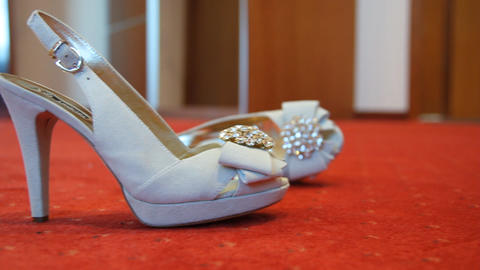 Wedding Shoes stock footage