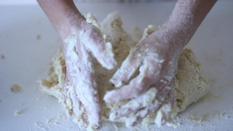 Gnocchi Potato Recipe Pasta Being Rolled Over A Fo stock footage
