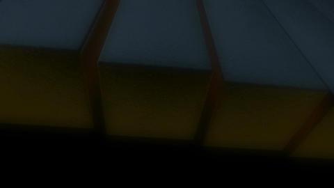 waving glowing edge Animation