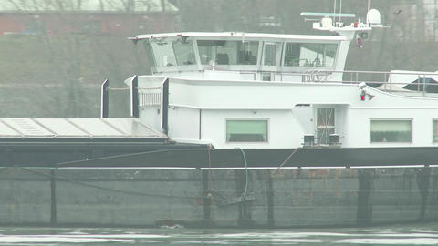 4K Barge On River Danube 2 stock footage