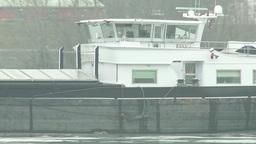 4K Barge on River Danube 2 Footage