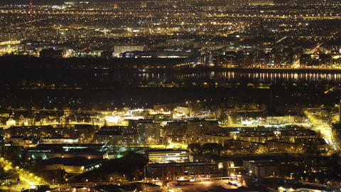 4K Budapest Aerial By Night Timelapse 1 stock footage