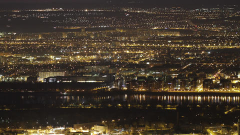 4K Budapest Aerial By Night Timelapse 3 stock footage