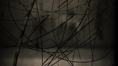 Barb Wires 7 vintage Animation