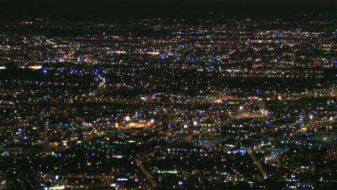 Huge Metropolis at Night 1 Footage