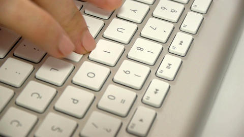 Keyboard typing Footage