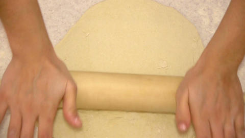Rolling dough for pizza Footage