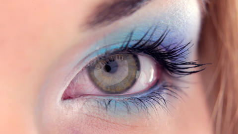 The Extemest Close-up Of An Eye stock footage