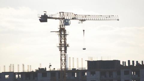 Building Cran Working Process stock footage