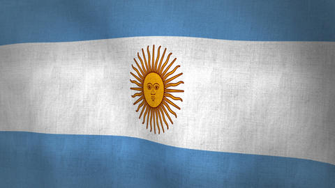 Argentina Flag Background Textured (Loop-able) Animation