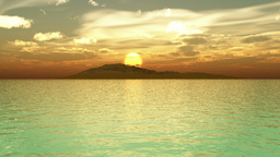 Island Sunrise stock footage