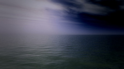 Stormy Sea Animation stock footage