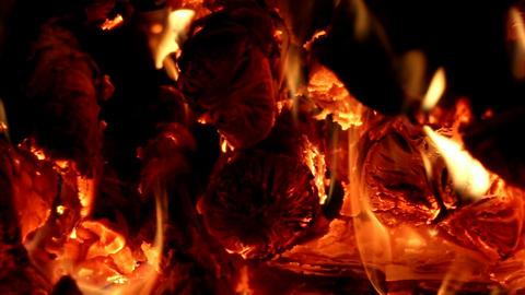 Fireplace close-up Footage