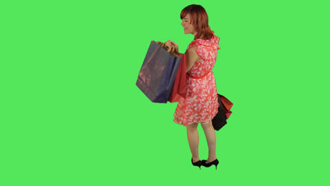 Female holding shopping bags Footage