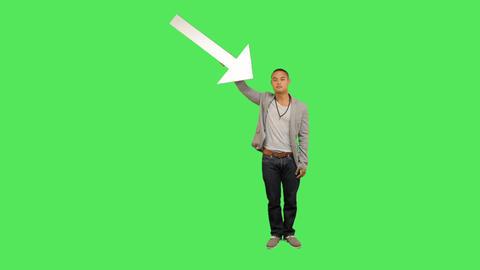 Male holding arrow Footage