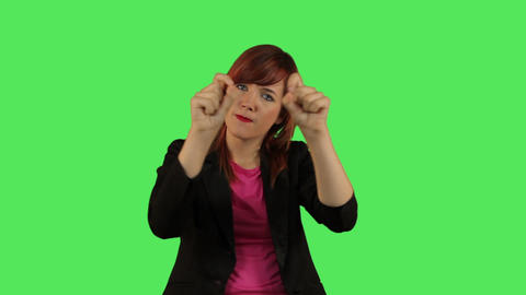 Female Making Hand Gestures stock footage