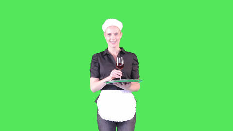 Waitress, Serving Drink stock footage