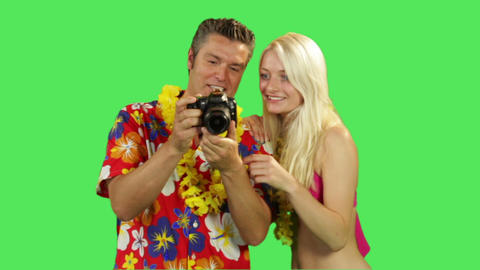 Tourist Couple Taking Picture On Holiday stock footage