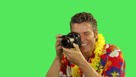 Male Taking Picture On Holiday stock footage