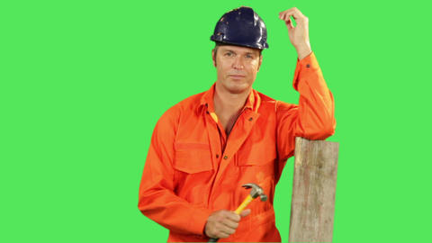 Construction Worker Footage