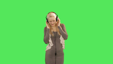 Female listening to music Footage