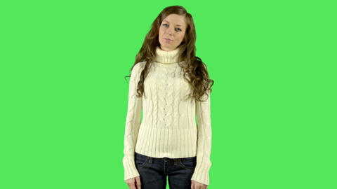 Portrait of young female Stock Video Footage